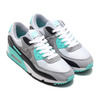 NIKE AIR MAX 90 WHITE/PARTICLE GREY-HYPER TURQ-BLACK CD0881-100画像