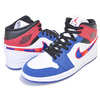 NIKE AIR JORDAN 1 MID SE white/university red-rush blue 852542-146画像