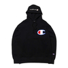 Champion PULLOVER HOODED SWEATDHIRT BLACK C3-R101-090画像