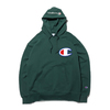 Champion PULLOVER HOODED SWEATDHIRT DARK GREEN C3-R101-570画像