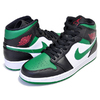 NIKE AIR JORDAN 1 MID black/pine green-white-gym red 554724-067画像