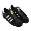 adidas SUPERSTAR LACELESS CORE BLACK/FOOTWEAR WHITE/CORE BLACK FV3018画像