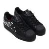 adidas SUPERSTAR W CORE BLACK/FOOTWEAR WHITE/SCARLET FV3343画像