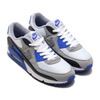 NIKE AIR MAX 90 WHITE/PARTICLE GREY-HYPER ROYAL-BLACK CD0881-102画像