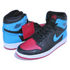 NIKE WMNS AIR JORDAN 1 HI OG UNC TO CHICAGO black/dk powder blue-gym red CD0461-046画像