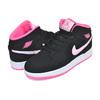 NIKE AIR JORDAN 1 MID (GS) black/pink form-digital pink 555112-066画像