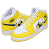 NIKE AIR JORDAN 1 MID SE (GS) dynamic yellow/black-white AV5174-700画像