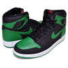NIKE AIR JORDAN 1 HI OG black/pine green-white-gym 555088-030画像