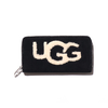 UGG W HONEY ZIP ARND WALLET SHEEP BLACK 1093571-BLK画像