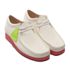 Clarks Wallabee Bright White 26148599画像