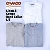 CAMCO Linen & Cotton Band Collar L/S画像