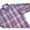INDIVIDUALIZED SHIRTS L/S STANDARD FIT B.D. MULTI CHECK SHIRTS blue x red画像