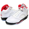 NIKE AIR JORDAN 5 RETRO true white/fire red-black DA1911-102画像