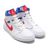 JORDAN BRAND WMNS AIR JORDAN 1 MID WHITE/UNIVERSITY RED-GAME ROYAL BQ6472-164画像