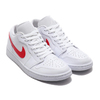 JORDAN BRAND WMNS AIR JORDAN 1 LOW WHITE/UNIVERSITY RED-WHITE AO9944-161画像