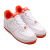 NIKE AIR FORCE 1 '07 LV8 EMB WHITE/TEAM ORANGE-BLACK CT2585-100画像