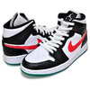 NIKE WMNS AIR JORDAN 1 MID black/university red-white BQ6472-063画像