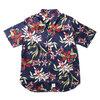 APPLEBUM Island Flower S/S Shirt NAVY画像