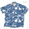 "KEONI OF HAWAII S/S RAYON HAWAIIAN SHIRT ""POPS"" by KOJI TOYODA SS38467画像"