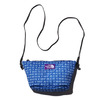 THE NORTH FACE PURPLE LABEL LOGO PRINT MESH POUCH M BLUE NN7923N-BL画像