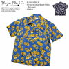 BURGUS PLUS S/S Open Collar Resort Shirts - Pineapple - BP19504-1画像