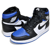 NIKE AIR JORDAN 1 HI OG ROYAL TOE black/black-white-game royal 555088-041画像