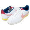 NIKE WMNS CLASSIC CORTEZ LEATHER summit white/coral stardust 807471-114画像