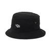 UGG UGG LOGO BUCKET HAT BLACK 20SS-UGHA02画像