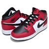 NIKE AIR JORDAN 1 MID (GS) black/black-gym red 554725-069画像