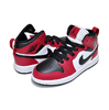 NIKE JORDAN 1 MID (PS) CHICAGO TOE black/black-gym red 640734-069画像