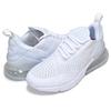 NIKE AIR MAX 270 (GS) white/wht-metallic silver 943345-103画像
