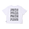 PUMA × MR DOODLE CROPPED TEE WHITE 598654-02画像