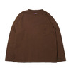 THE NORTH FACE PURPLE LABEL 7OZ L/S POCKET TEE BROWN NT3058N画像