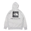 THE NORTH FACE BACK SQUARE LOGO HOODIE MIX GREY NT62040-Z画像