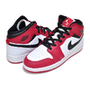NIKE AIR JORDAN 1 MID(GS) white/gym red-black 554725-173画像