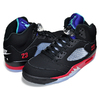 NIKE AIR JORDAN 5 RETRO TOP3 black/new emerald-fire red CZ1786-001画像