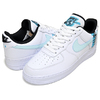 NIKE AIR FORCE 1 07 LV8 WORLD WIDE PACK white/glacier blue-blue fury CK6924-100画像
