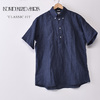 INDIVIDUALIZED SHIRTS S/S CLASSIC FIT BD SHIRT PULLOVERS / LINEN / NAVY画像