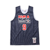 Mitchell & Ness NBA AUTHENTIC REV PRACTICE JERSEY TEAM USA 92 MICHAEL JORDAN NAVY/WHITE ARPJGS18435-USA画像