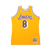 Mitchell & Ness NBA AUTHENTIC HOME JERSEY LAKERS 96 KOBE BRYANT YELLOW AJY4GS18091-LAL画像