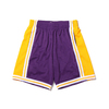 Mitchell & Ness NBA SWINGMAN ROAD SHORTS LAKERS 84-85 PURPLE SMSHGS18235-LAL画像