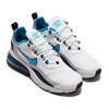 NIKE AIR MAX 270 REACT WHITE/LASER BLUE-WOLF GREY-BLACK CT1280-101画像