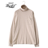 GOLD 16/- COTTON PEACH BRUSHED OFF-TURTLE NECK L/S T-SHIRT GL68567画像