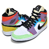 NIKE WMNS AIR JORDAN 1 MID SE white/black-lightbulb CW1140-100画像