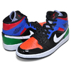 NIKE WMNS AIR JORDAN 1 MID SE black/university red CV5276-001画像