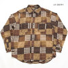 SUGAR CANE PATCHWORK CHECK L/S WORK SHIRT BLEACH WASH SC28542画像