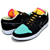 NIKE AIR JORDAN 1 LOW SE black/blk-aurora green CK3022-013画像