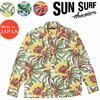 SUN SURF 長袖 コットンフランネルシャツ アロハ NIGHT BLOOMING CEREUS SS28526画像