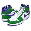 NIKE AIR JORDAN 1 MID aloe verde/court purple-white 554724-300画像
