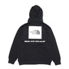 THE NORTH FACE BACK SQUARE LOGO HOODIE BLACK NT62040-K画像